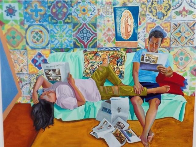 Painting by Aliza Nisenbaum