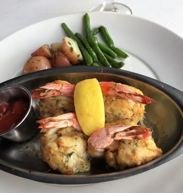 Shrimp stuffed with crab