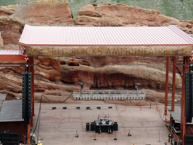 The stage at Red Rocks