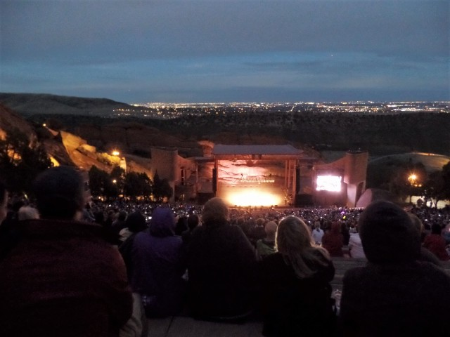 The Red Rocks amphitheatre