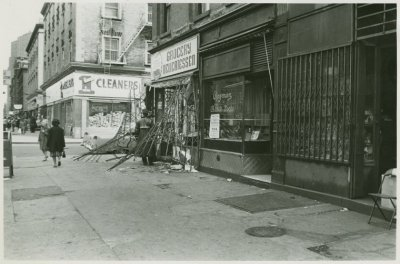 Harlem stores damaged