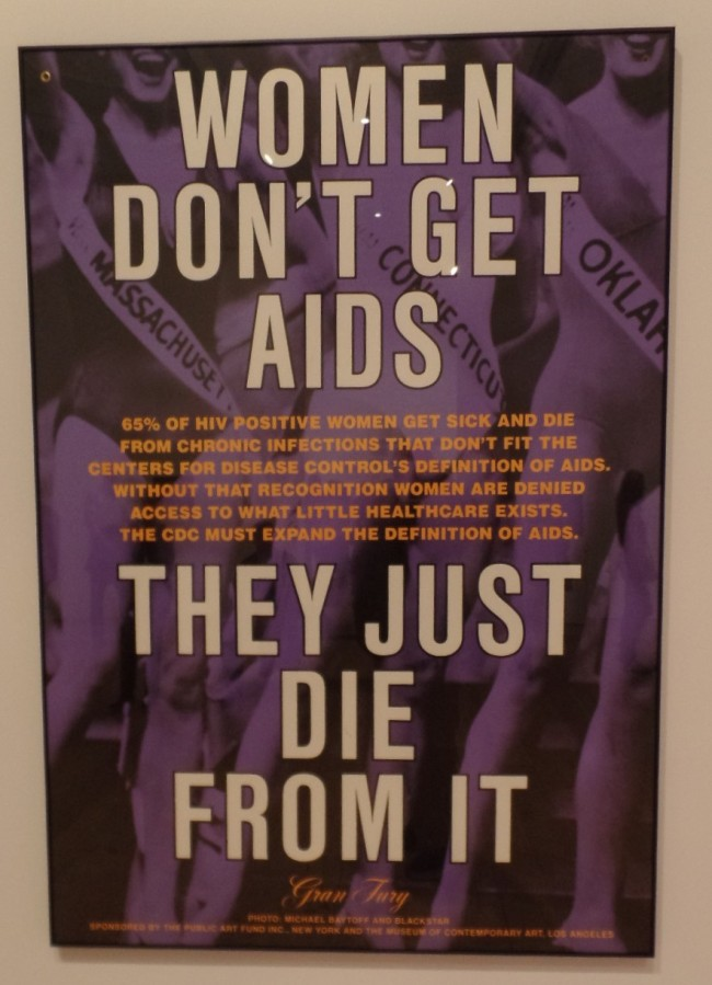 AIDS protest poster