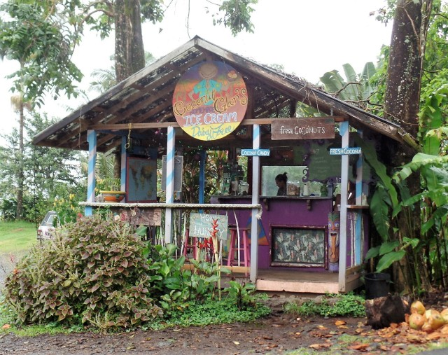 ice cream stand on Road to Hana