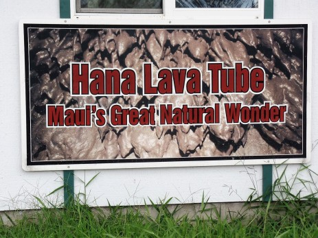 sign for lava tube