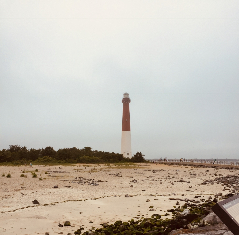 View from the jetty at Barnegat Lighthouse State Park