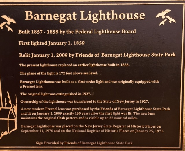 Barnegat Lighthouse sign