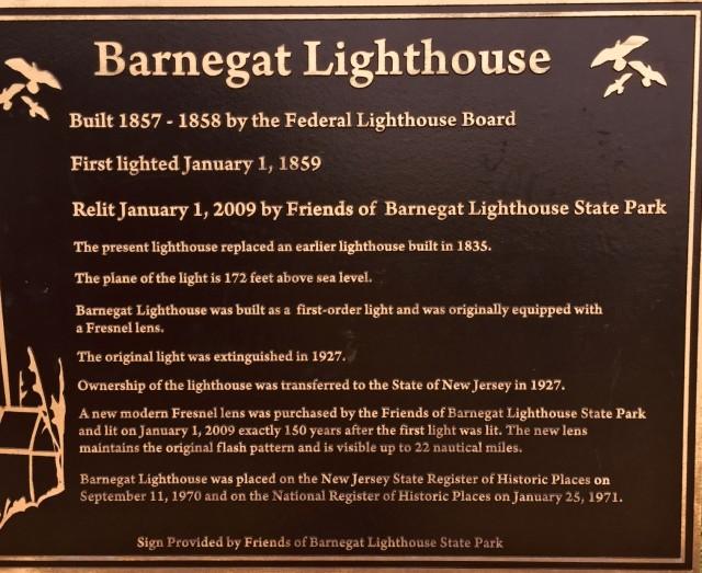 Barnegat Lighthouse sign