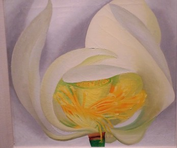 O'Keeffe painting at NYBG