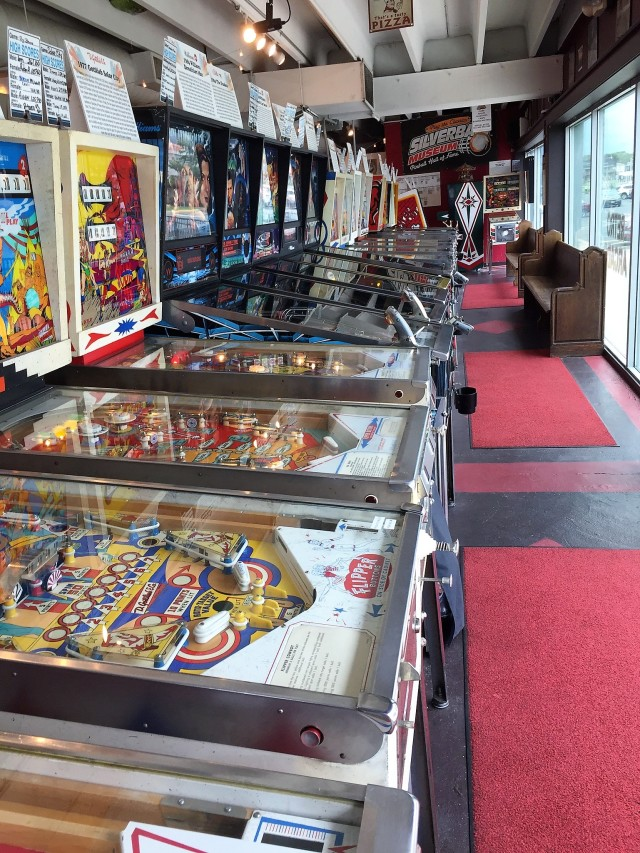 Pinball machines at the Silverball Museum in Asbury Park