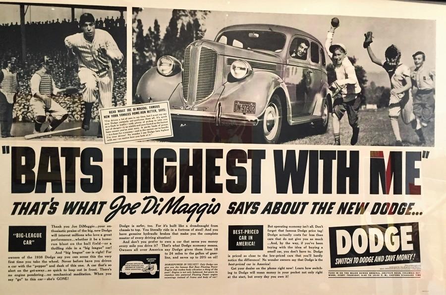 Joe DiMaggio car ad