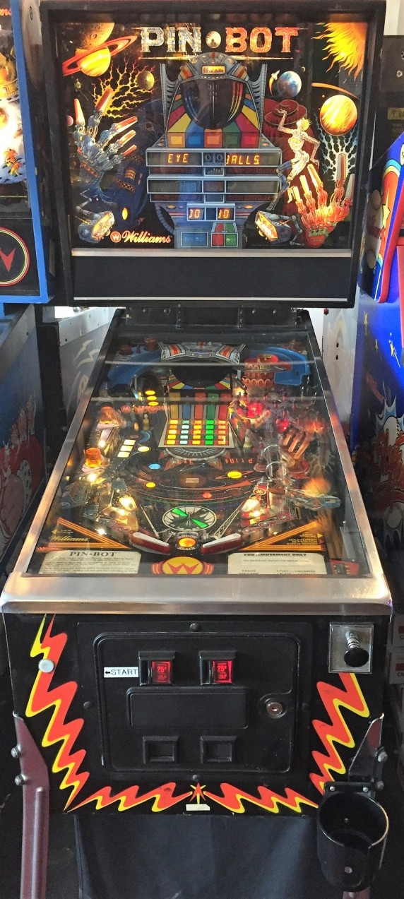 Pin Bot pinball machine at Silverball Museum