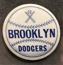 Brooklyn Dodgers baseball pin