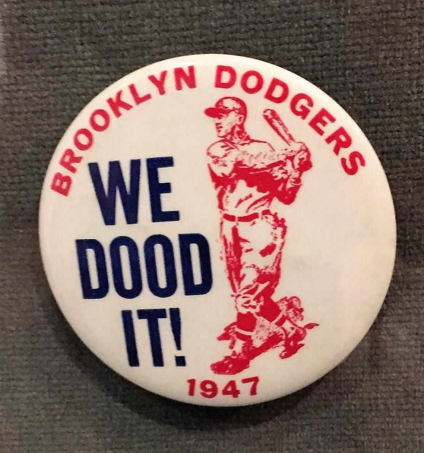 Brooklyn Dodgers baseball pin