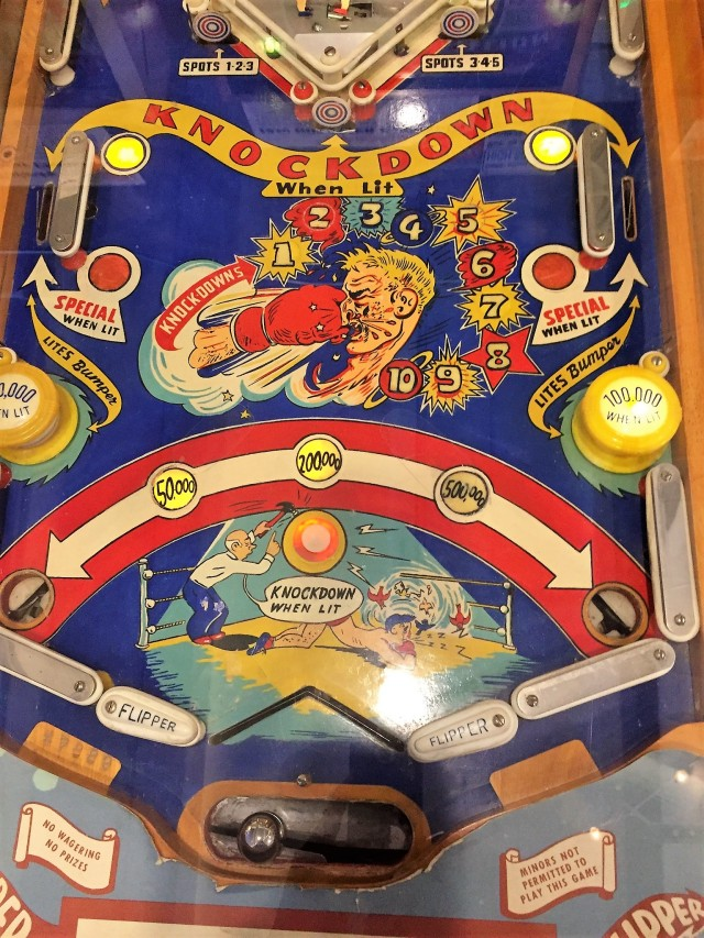 An example of an early flipper pinball machine.