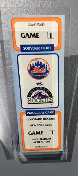 Rockies opening day ticket