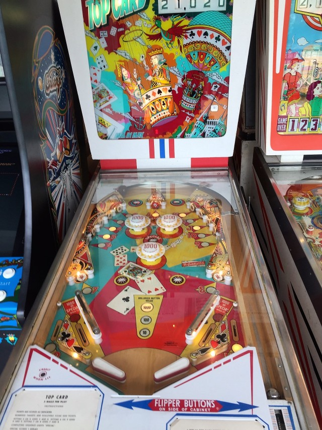 1974 pinball machine at the Silverball Museum