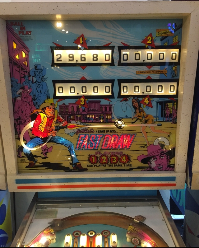 1975 pinball machine at the Silverball Museum