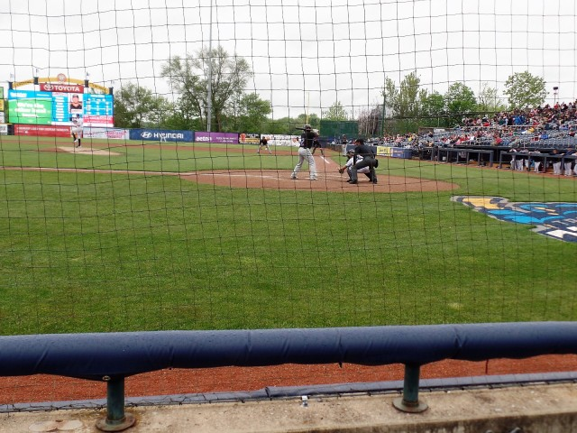 The first row at Arm & Hammer Park