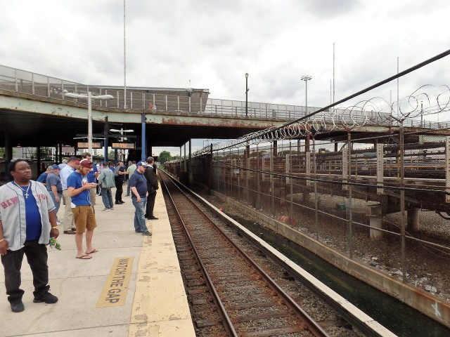 Willets Point station after a Mets game