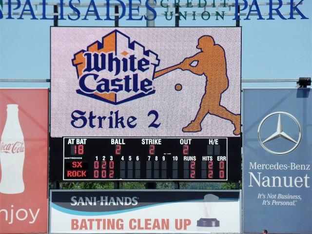 Palisades Credit Union Park scoreboard