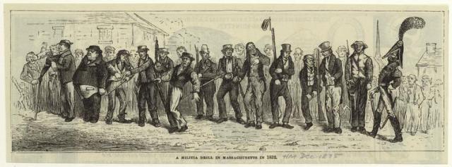 1821 militia drill