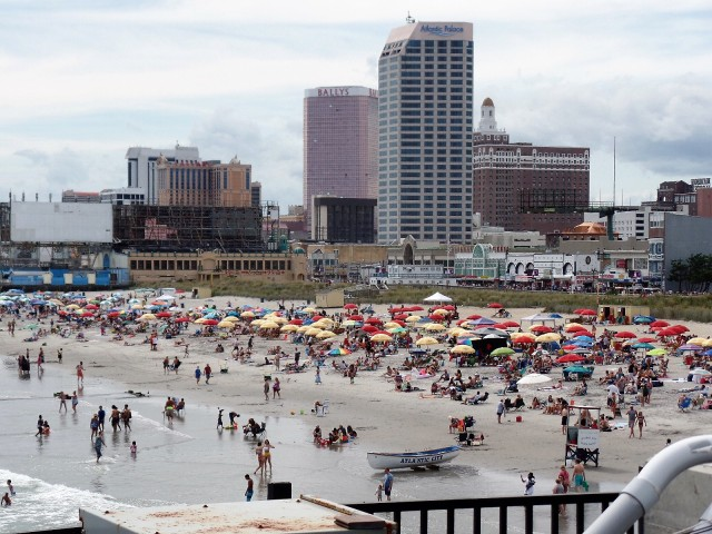 Summer weekend in Atlantic City