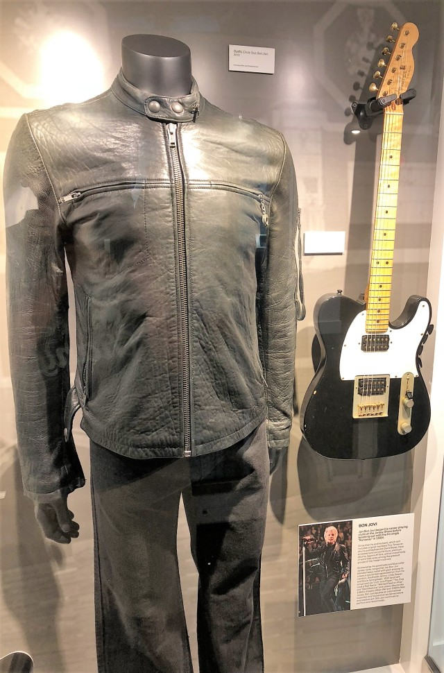 Bon Jovi jacket and guitar