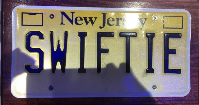 Taylor Swift license plate