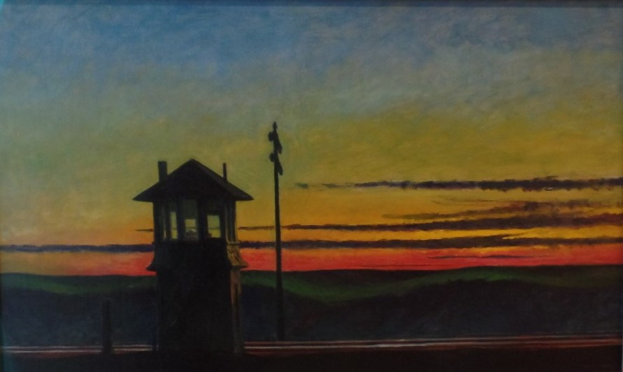 Hopper's Railroad Sunset