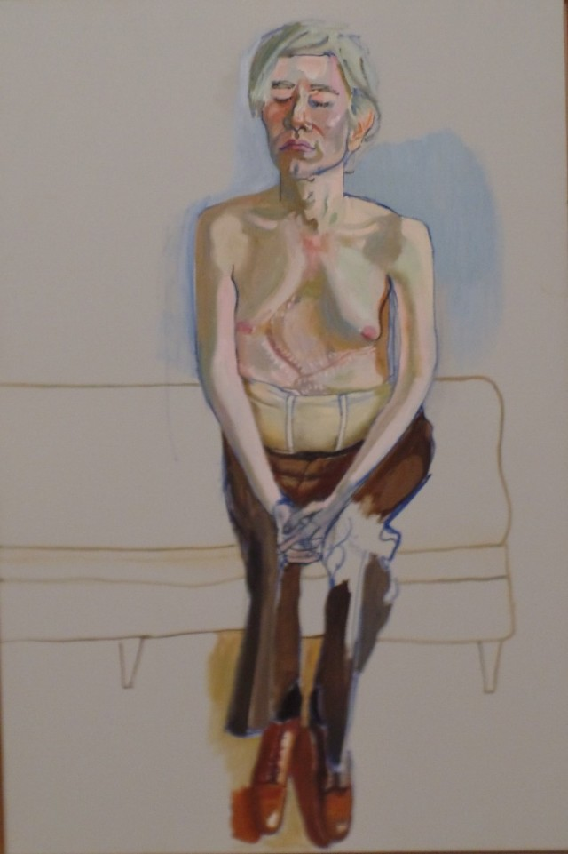 Alice Neel painting of Warjp;