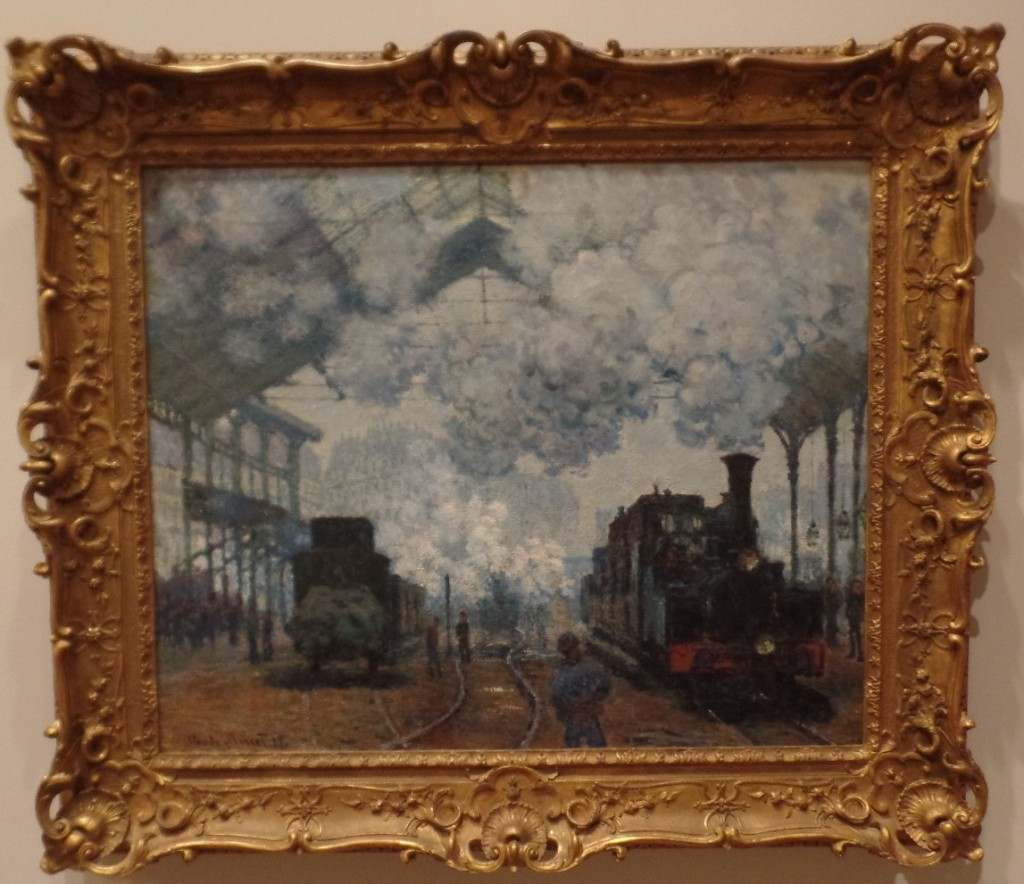 The Gare-Saint Lazare: Arrival of a Train