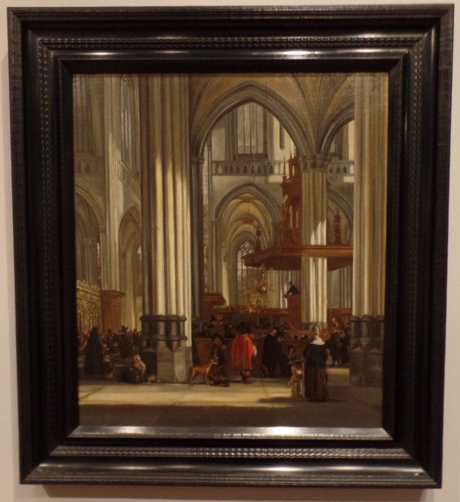 The Interior of the Nieuwe Kerk Amsterdam with a Sermon in Progress