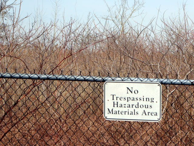 Contaminated area of Liberty State Park.