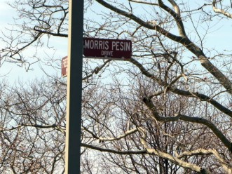 Street sign in Liberty State Park