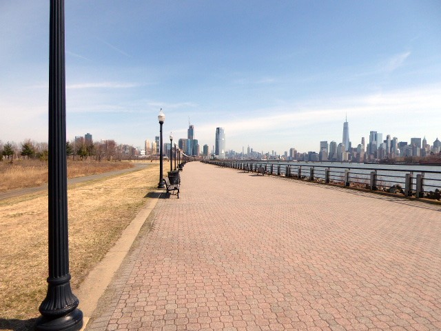 Liberty State Park riverwalk