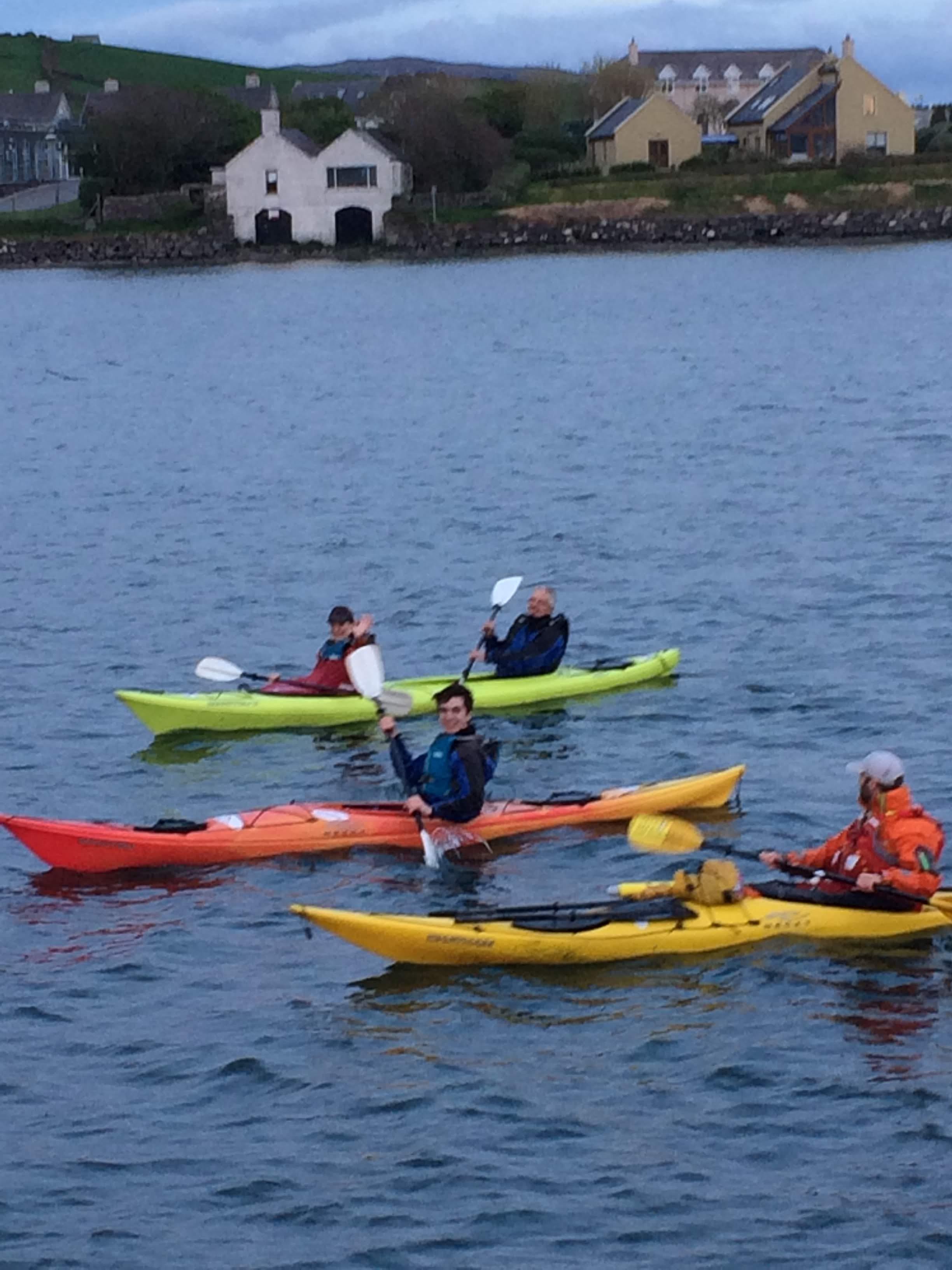 Kayaking in Dingle Harbor