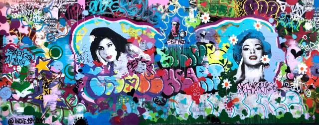 Indie 184 mural on Asbury Park boardwalk