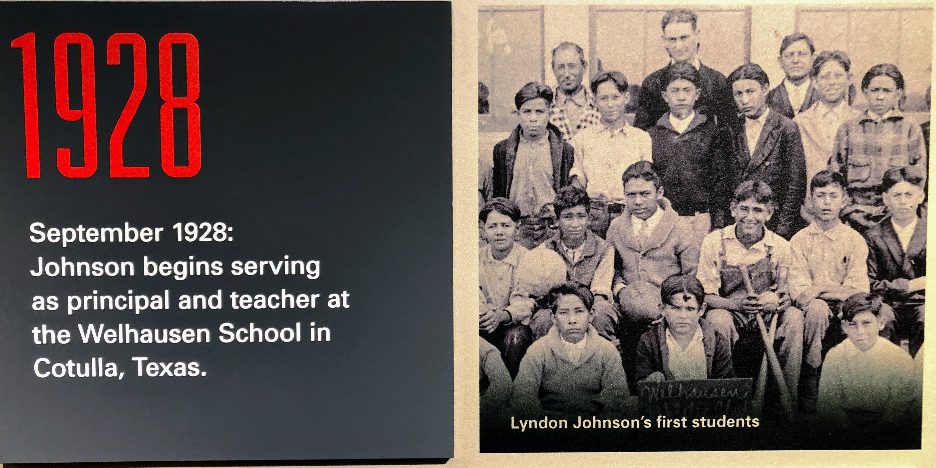 LBJ as a school teacher