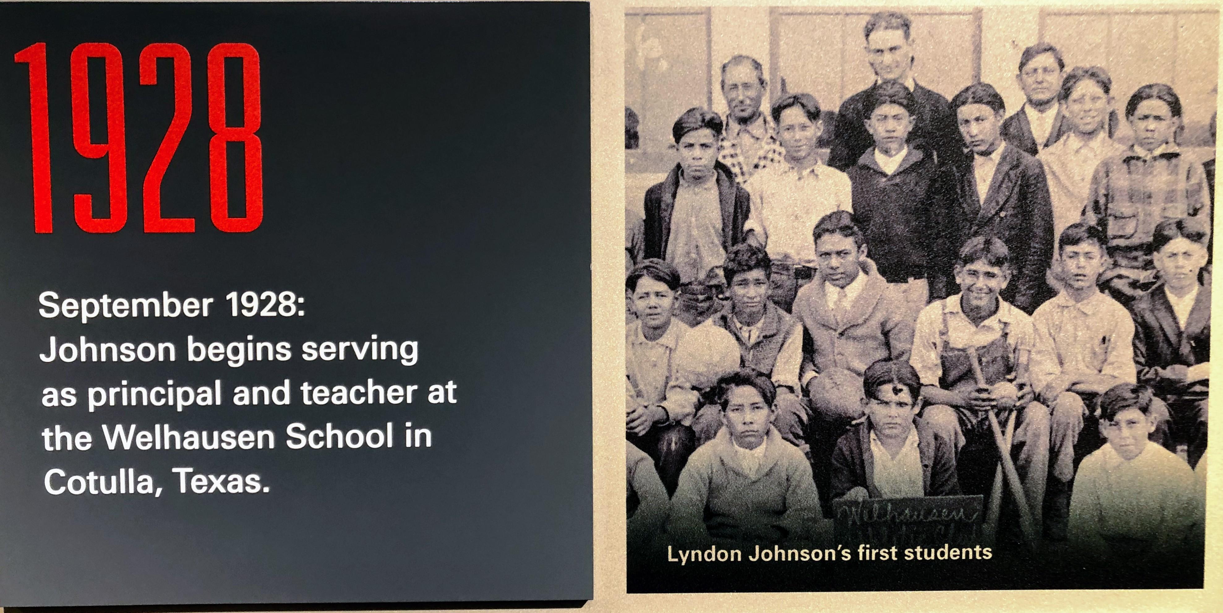 LBJ as a school teacher