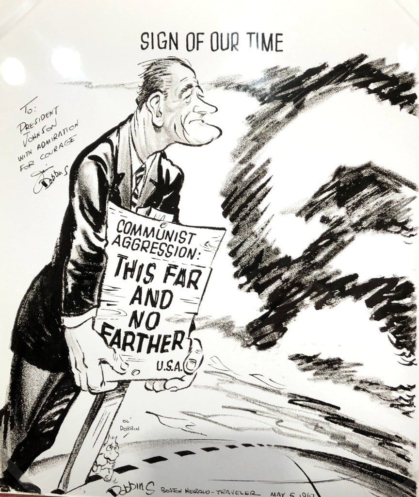 LBJ cartoon