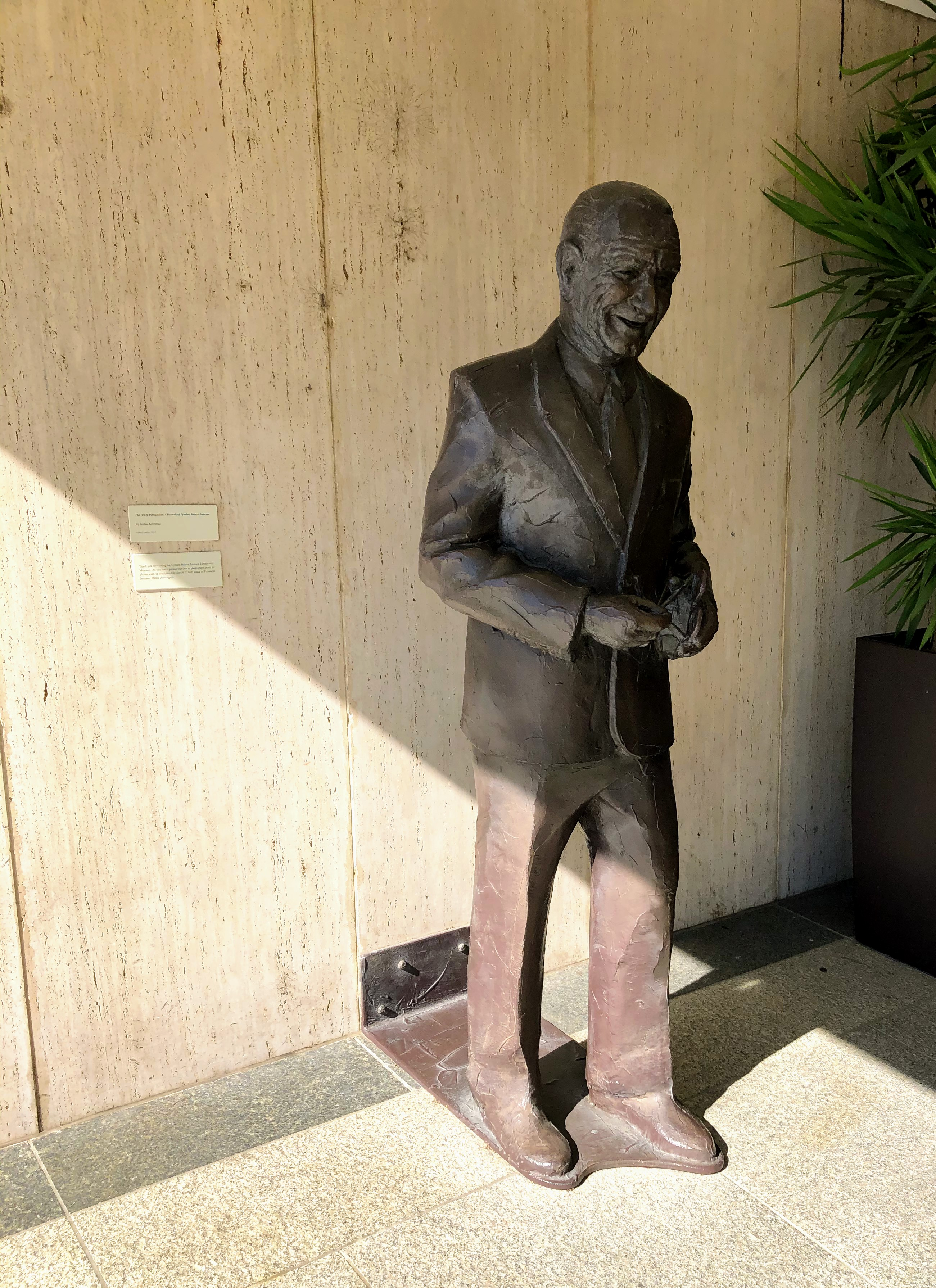LBJ statue