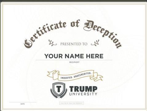 A Trump U diploma