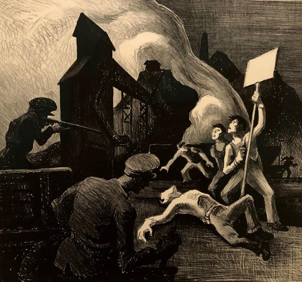 Mine Strike, Thomas Hart Benton