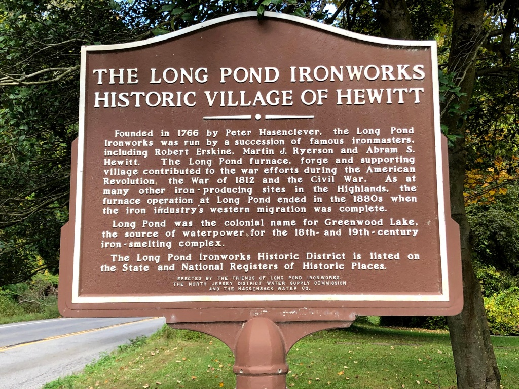 Long Pond Ironworks sign