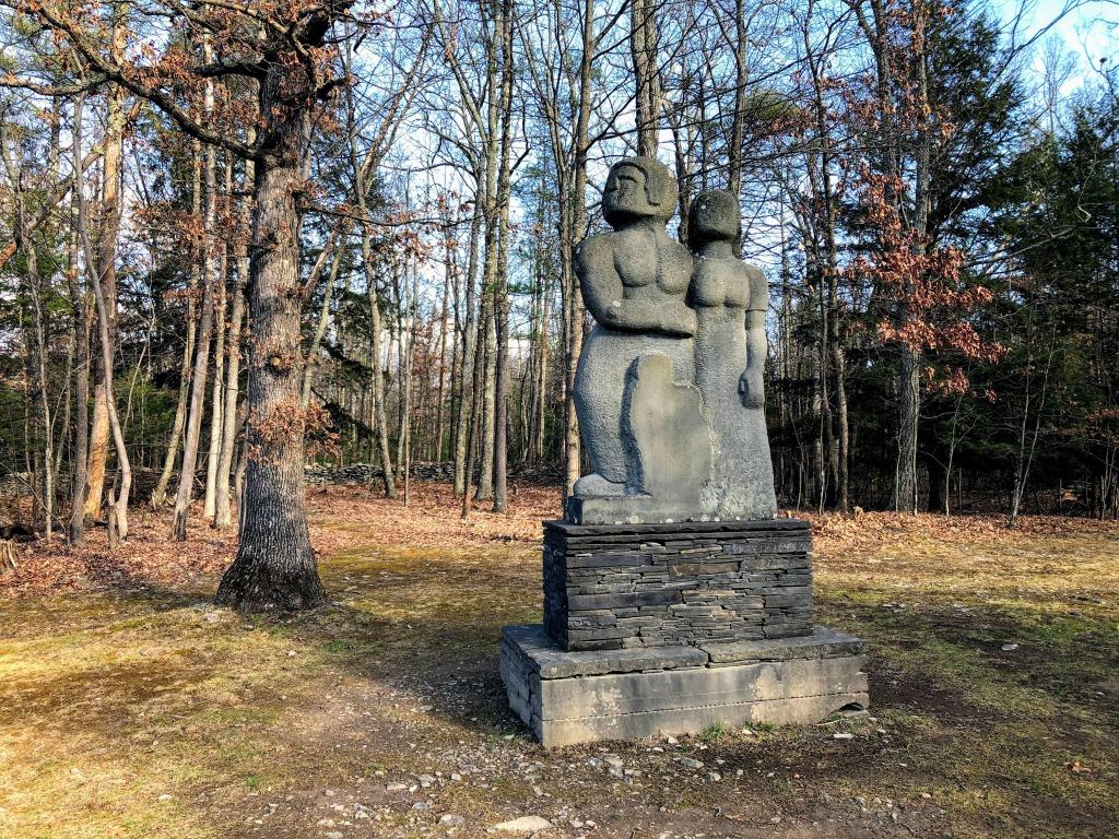 sculpture at Opus 40