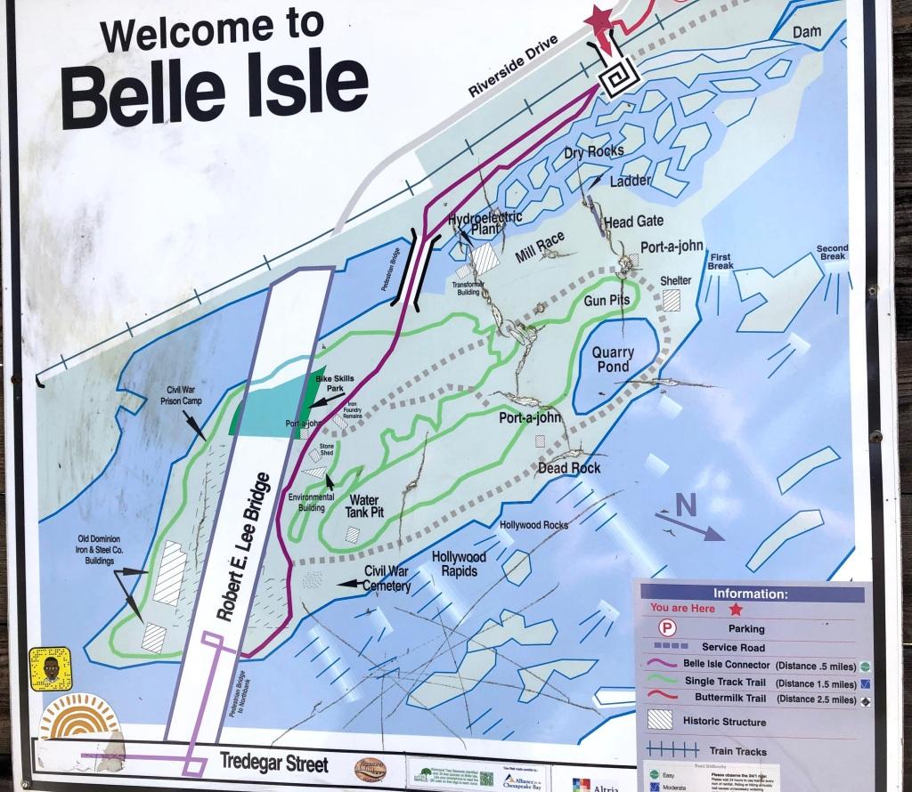 Belle Isle map