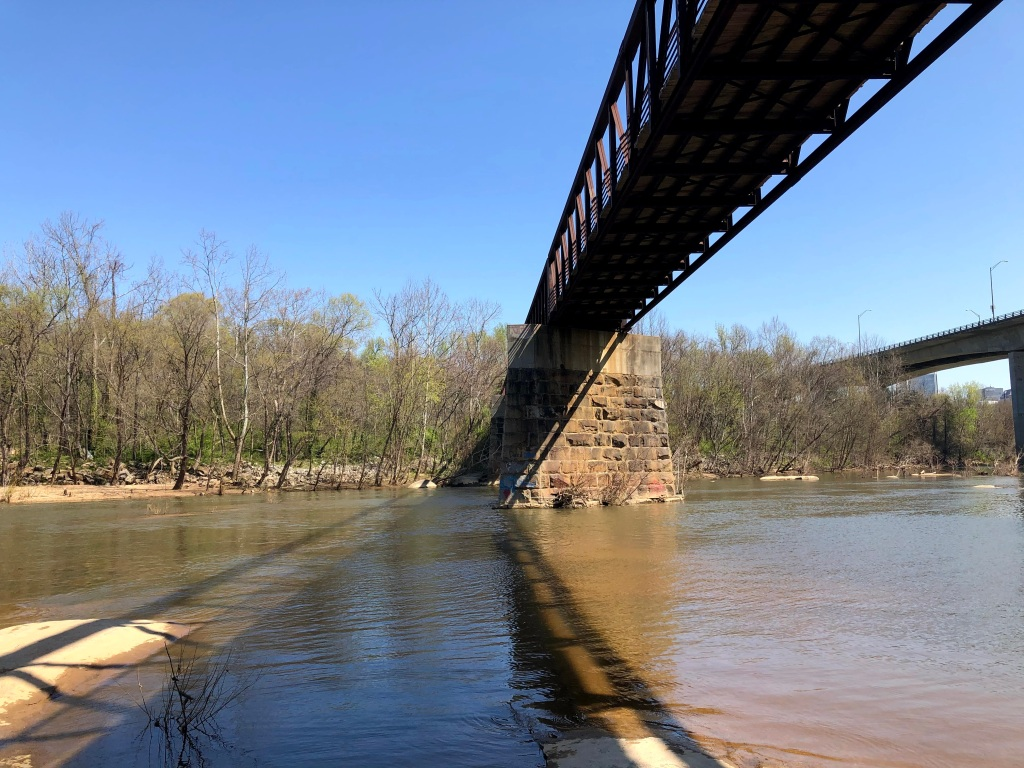 footbridge across James River