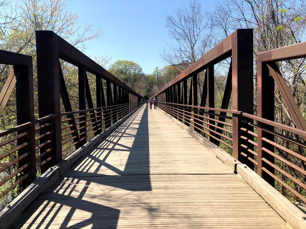 Footbridge to Belle Isle