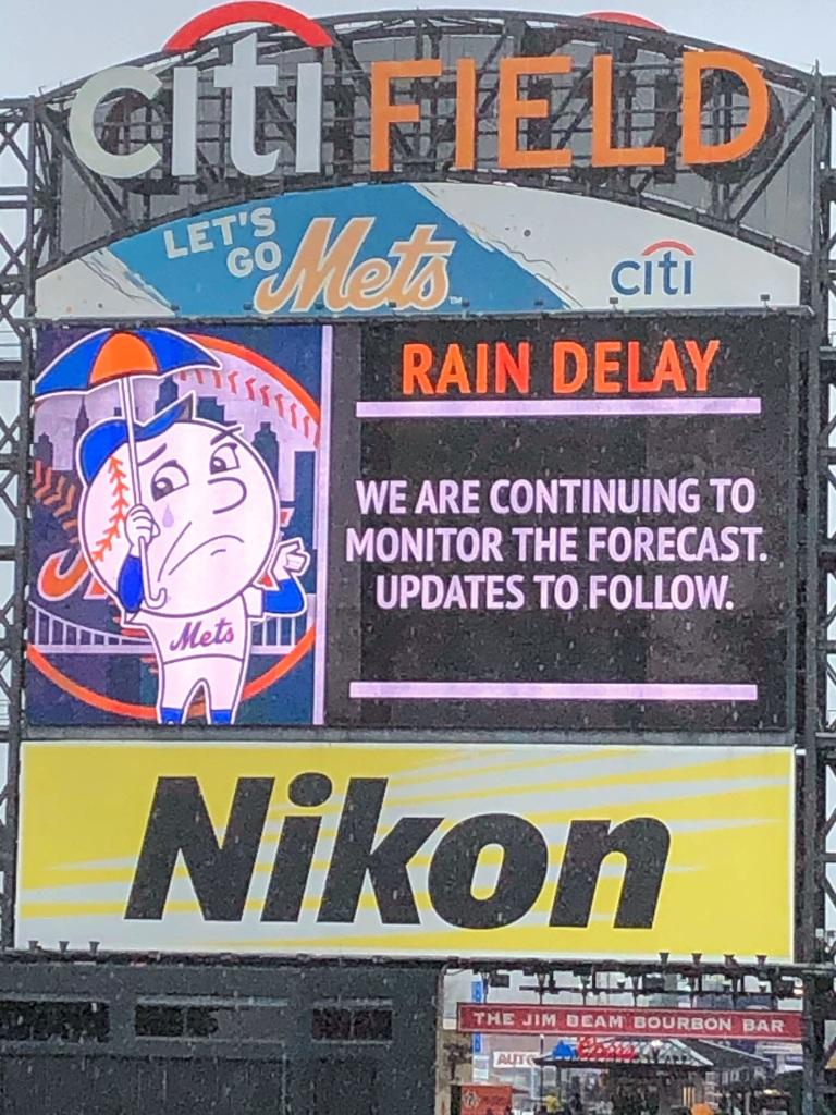 Rain delay at Citi Field