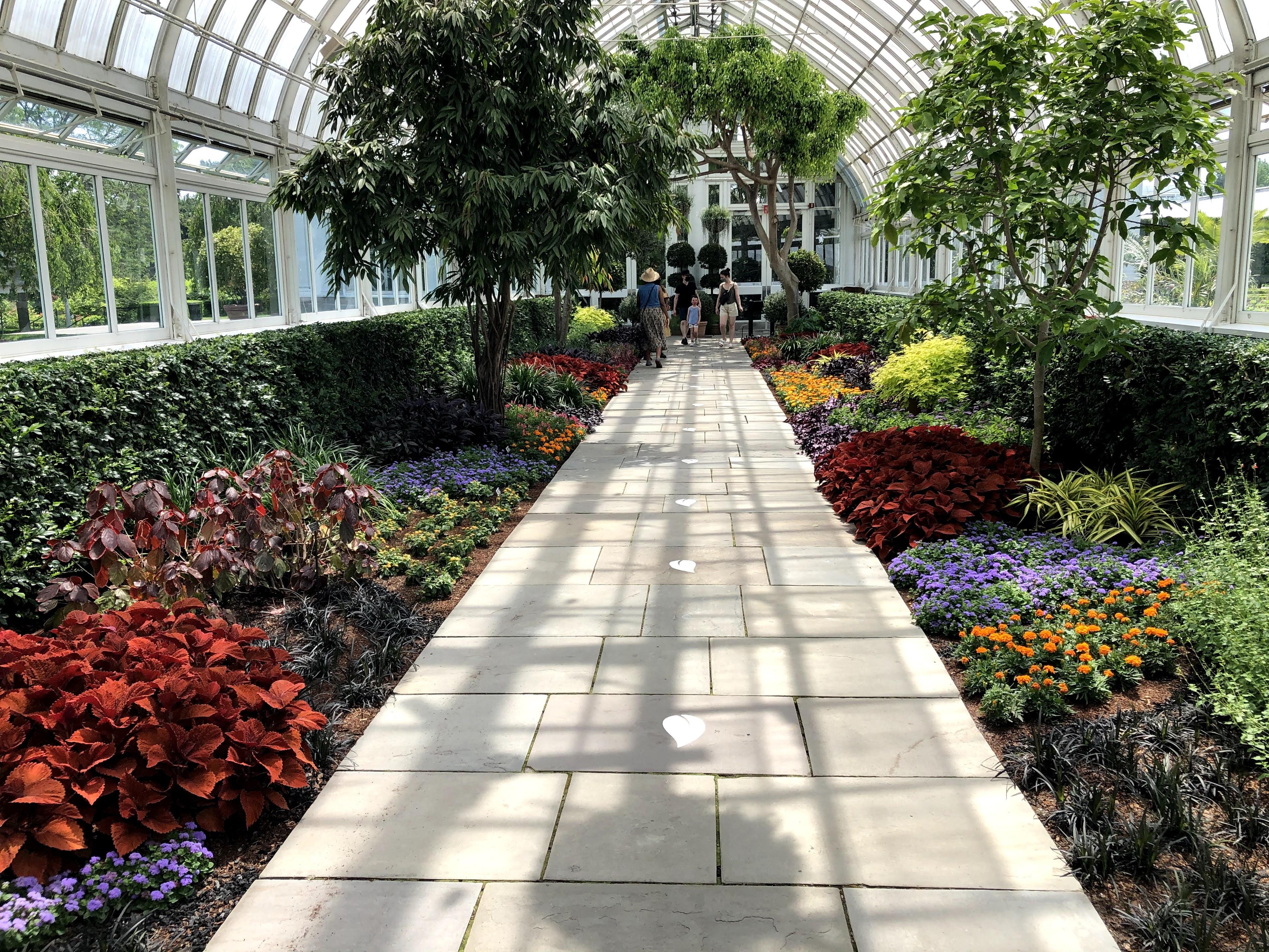 Kusama-inspired flower garden